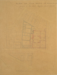 PLAN OF THE BANK OF ENGLAND as built by Sir Rob.t Taylor Arch.t 1766-88